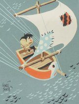 Image of [Little  Person in bird boat] - Scott, Walt, 1894-1970